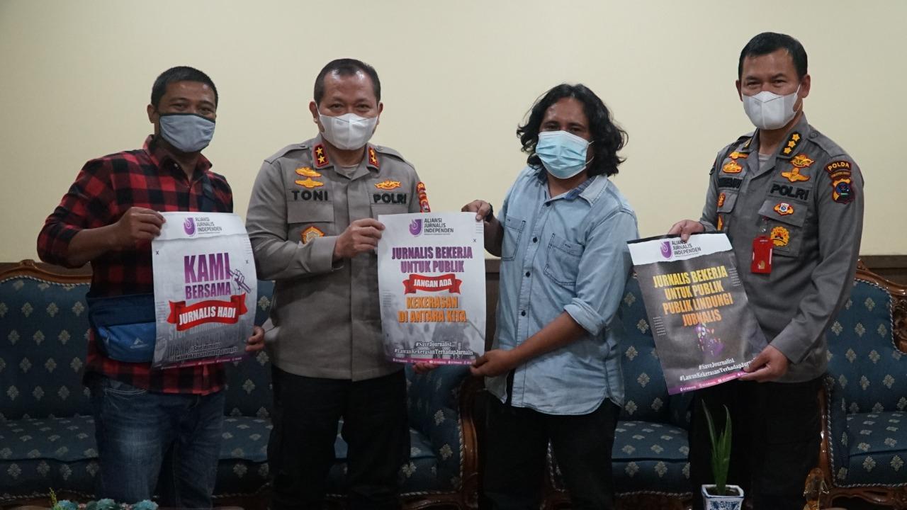 Antisipasi Kekerasan Terhadap Jurnalis, Ketua AJI Padang Bertemu Kapolda Sumbar